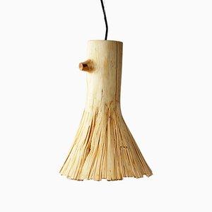 Lampe à Suspension en Bois Presse de Johannes Hemann