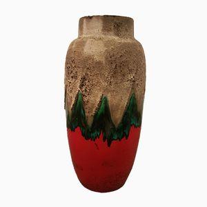 Vaso fat lava in ceramica di Scheurich, Germania Est, anni '60