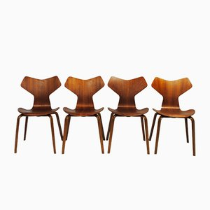 Grand Prix Chairs by Arne Jacobsen for Fritz Hansen, 1960s, Set of 4