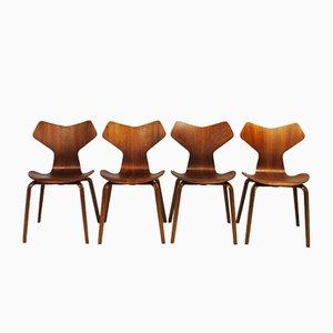 Grand Prix Stühle von Arne Jacobsen für Fritz Hansen, 1960er, 4er Set