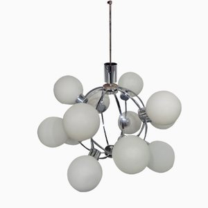 Space Age Sputnik Lamp with 12 Milk Glass Balls