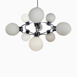 Space Age Sputnik Lamp with 9 Milk Glass Balls