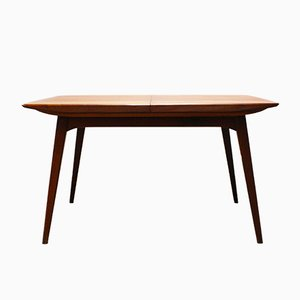 Vintage Dutch Teak Extendable Dining Table by Louis van Teeffelen for WéBé, 1960s