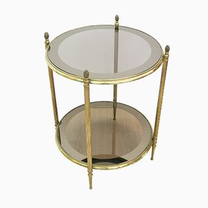 Mid-Century French Brass Side Table, 1960s