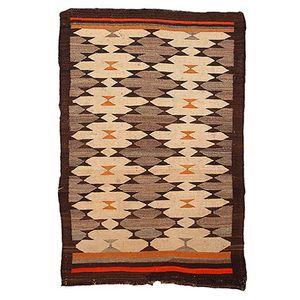 Antiker Handgeknpfter Navajo Ureinwohner Amerikas Teppich, 1880er