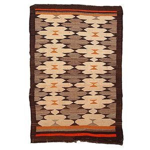 Antique Native American Navajo Handmade Rug, 1880s