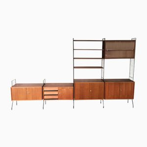 Mid-Century Modular Wall Unit with Vitrine, 1960s