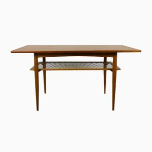 Teak Coffee Table with Shelf from Knoll, 1950s