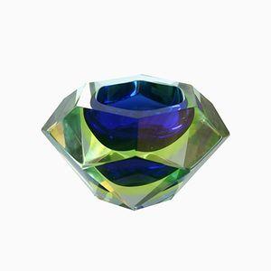 Italienische Mid-Century Murano Sommerso Glasschale, 1960er
