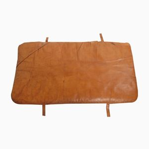 Vintage Leather Gym Mat with Four Handles