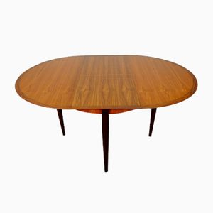 Mid-Century Teak Extendable Dining Table from Lübke