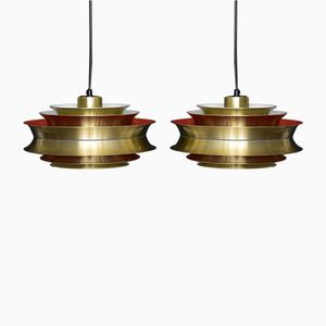 Trava Pendant Lamps by Sigurd Lindkvist for Granhaga Metallindustri, Set of 2