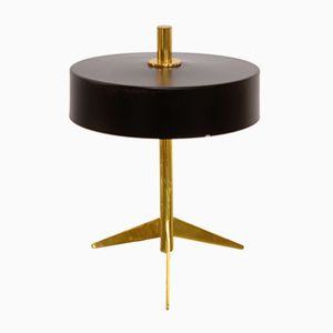 Lacquered Metal and Brass Table Lamp from Stilux, 1950s