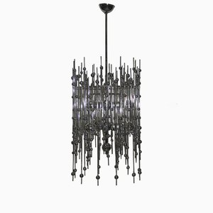 Italian Pop Art Sculptural Modernist Chandelier, 1970s