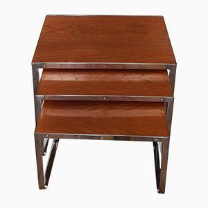 Teak Vintage Nest of Tables by Howard Miller for Design Associates (MDA)