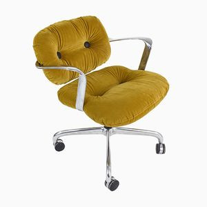 Mustard Yellow Office Chair by Hannah Morrison for Knoll, 1970s