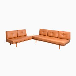 German Model 6603 Leather Sofa by Franz Köttgen for Kill International, 1960s, Set of 2