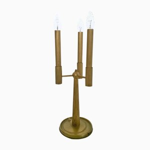 Mid-Century Italian 3-Arm Brass Table Lamp, 1950s