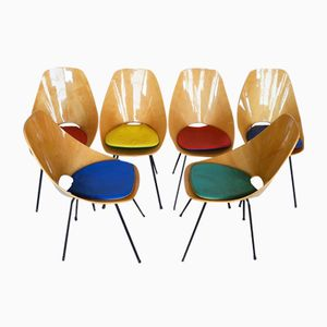 Medea Chairs by Vittorio Nobili for Fratelli Tagliabue, 1950s, Set of 6