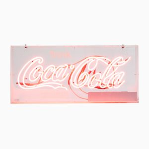 Beleuchtetes Vintage Coca Cola Schild