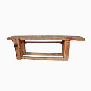 Vintage Wooden Work Bench, 1950s