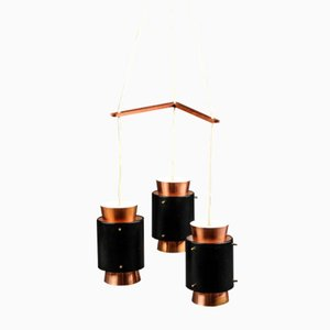 Mid-Century Danish Copper Ceiling Light by Jo Hammerborg for Fog & Mørup, 1960s
