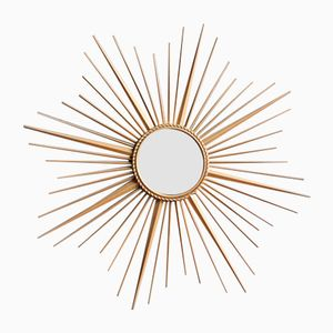 Mid-Century Sunburst Mirror from Chaty Vallauris, 1950s