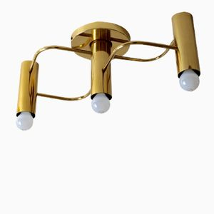 Mid-Century Triple Ceiling Light by Gaetano Sciolari for Leola