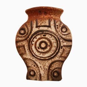 Deutsche Vintage Fat Lava Vase von Carstens, 1970er