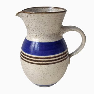 Mid-Century Danish Striped Stoneware Pitcher from Michael Andersen, 1960s