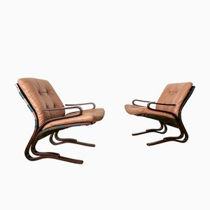 Lounge Chairs by Oddvin Rykken for Rykken & Co, 1970s, Set of 2