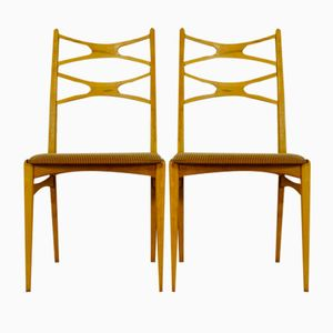 Swedish Dining Chairs in Beech, 1960s, Set of 2