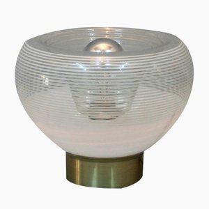 Italian Table Lamp with Circular Motif, 1970s