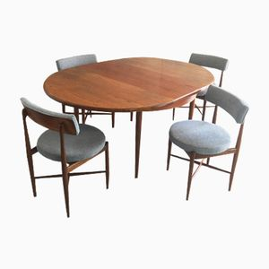 Extendable Dining Table and 4 Dining Chairs from G-Plan, 1970s