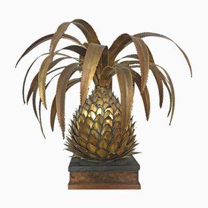 Pineapple Brass Lamp by Maison Jansen, 1970s