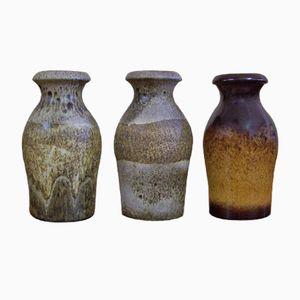 Vintage Modell 208-21 Keramikvasen von Scheurich, 3er Set