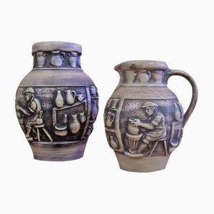 Vintage Vase & Krug von Knoedgen