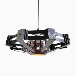 Lampe à Suspension Space Age Plaquée Chrome, 1970s
