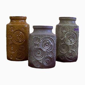 Vintage Modell 282-16 und 282-20 Vasen von Scheurich, 3er Set