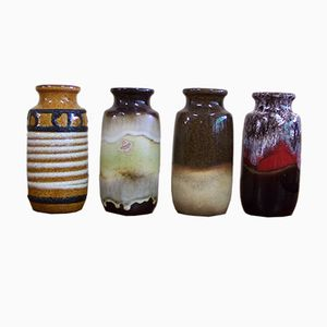 Vintage Model 213-20 Vases from Scheurich, Set of 4