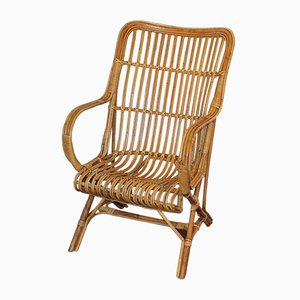 French Rattan Armchair, 1960s