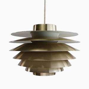 Danish Brass Ceiling Light by Sven Middelboe for Nordisk Solar, 1982