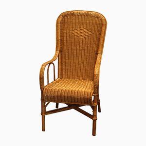 Wicker Armchair, 1950s