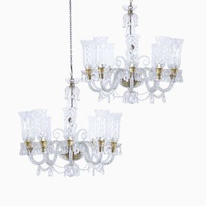 Murano Glas Kronleuchter von Murano, 1960er, 2er Set