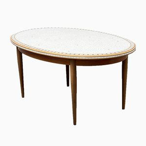 Oval Mosaic Coffee Table, 1950s