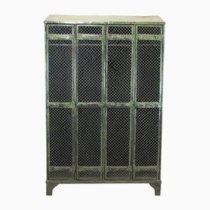 Industrieller Vintage Spind mit Vier Türen von Strafor, 1930er