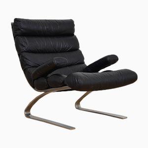 Vintage Sinus Leather Chair by Adolf Rheinhold & Hans-Jürgen Schröpfer for Cor