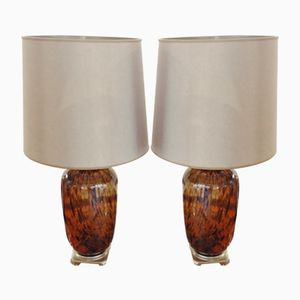 Large Glass Lamps from Murano, 1950s, Set of 2