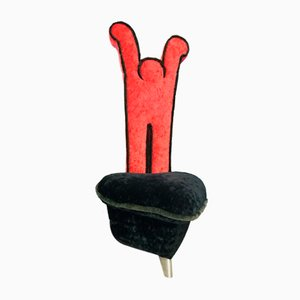 Vintage Velvet High Back Chair by Keith Haring for Bretz Editions