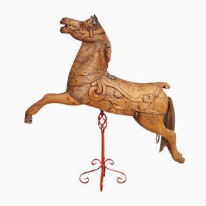 Antikes Britisches Karussellpferd